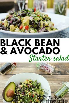 Super easy salad, dip, or taco topping ...black bean and avocado salad speaks volumes in flavor and will help you keep it simple for your next potluck or party