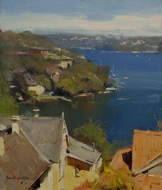 Colley Whisson The View over Mosman, Sydney 12''x 10'' Oil
