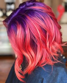 Searching for best hair color and highlights combinations to show off in You may find a lot of various hair color ideas but we assure you the amazing trends of pulp riot hair color combinations Pastel Ombre, Pastel Hair, Ombre Hair, Pink Hair, Hair Dye Colors, Cool Hair Color, Pelo Multicolor, Color Fantasia, Dip Dyed Hair
