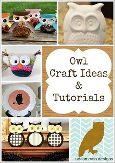12 Fall Owl Crafts Ideas and Tutorials