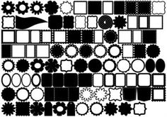 The best ever font if you have SCAL or MTC or a Craft Robo/Silhouette - all those shapes and all for free.