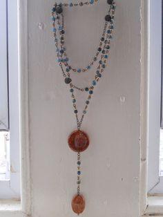 Rosary style necklace by SunshinesPush on Etsy, $57.00