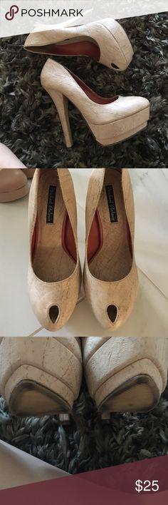 Nude peeptoe heels Nude peeptoe heels Michael Antonio Shoes Platforms