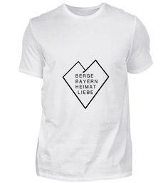 Berge Bayern Heimat Liebe T-Shirt Basic Shirts, Mens Tops, Mountains, Bavaria, Love