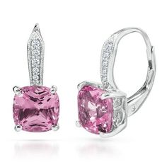 Hoop Lab-Created Pink Sapphire Earrings available at #HelzbergDiamonds