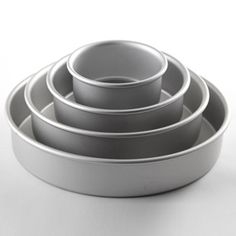 Fat Daddio's Round Anodized Aluminum Cake Pan Set, 4-piece | CHEFScatalog.com. Purchase through swagbucks.com/refer/thcookies to earn 2 SB per dollar. 34.95