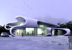 Civic Centre, Mestia, Georgia, Design Study: 2010, J. MAYER H.