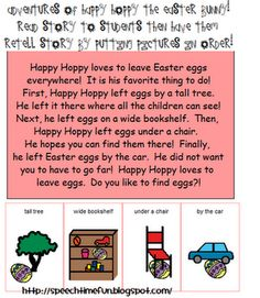 Adventures of Happy Hoppy the Easter Bunny -  Pinned by @PediaStaff – Please Visit http://ht.ly/63sNt for all our pediatric therapy pins