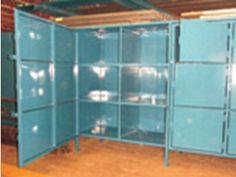 Mobile Container Storage Unit - Custom Welded Wire mesh products.  http://www.glassessential.com/welded-wire-mesh/custom  #Wire #wiremesh #Partitions #fence #locker #cage #wirecage #wirepartitions #wirelocker #glassessential #glassessential.com