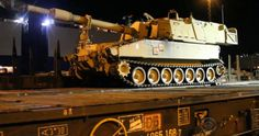 """""""U.S. tanks roll into Germany to protect against potential Russian invasion""""   CBS News   01/08/2017  INSIGHT: """"The official name for this display of military muscle is Operation Atlantic Resolve.     Its purpose is to reassure America's nervous European allies that the U.S. military will stand with them against any aggressive moves by Russia. Moves, like the 2014 invasion of Crimea, when Russian troops arrived in what had been Ukraine -- and seized it for the Kremlin."""""""