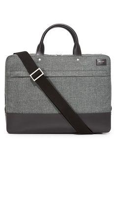 Jack Spade Gray Tech Oxford Slim Briefcase