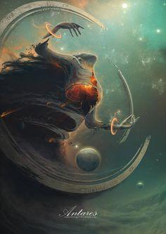 Creative Illustration, Painting, Antares, and image ideas & inspiration on Designspiration Fantasy Concept Art, Dark Fantasy Art, Fantasy Artwork, Dark Art, Monster Art, Illustration Art, Illustrations, Arte Horror, Creature Design
