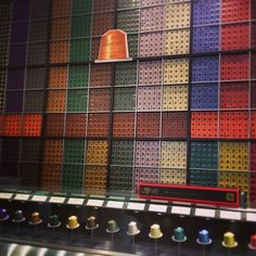 Wall of Coffee - Nespresso Store Newbury! Art! Photo by iamsophiamoon