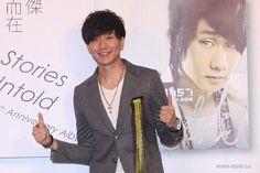 Singer JJ Lin promotes his album in Taipei Jj Lin, January 21, Taipei, Fur Jacket, Michael Jackson, Conference, Charity, Promotion, Idol
