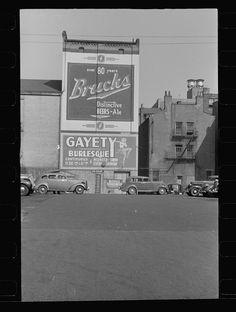Parking lot, Cincinnati, Ohio. 1938