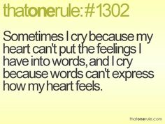 heartache or true love...all depends on how you read it and your state of mind
