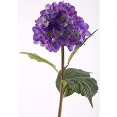 80cm Artificial Hydrangea Stem - Purple/Blue.      High quality Hydrangea stem made from plastic - designed to look like the real thing!