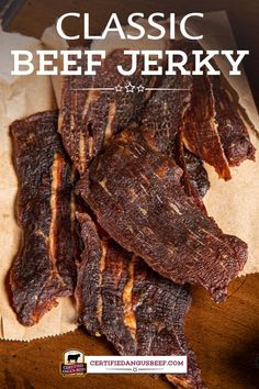 Learn how to make mouth-watering Classic Beef Jerky right at home! Everyone will be asking for this recipe! Smoker Jerky Recipes, Beef Jerky Marinade, Deer Jerky Recipe, Venison Jerky Recipe, Jerkey Recipes, Smoked Beef Jerky, Best Beef Jerky, Homemade Beef Jerky, Venison Recipes