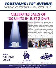 #Celebrates #Sales of 100 #Units (#Flats) In Just 2 Days