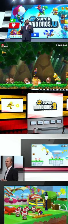 See what Nintendo is up to at E3.  Super Mario Bros U, Super Mario Bros 2 and Paper Mario: Star Sticker