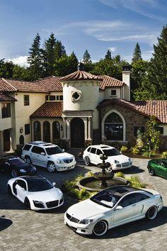 I see a porsche Cayenne, Cadillac Escalade and Audi R8