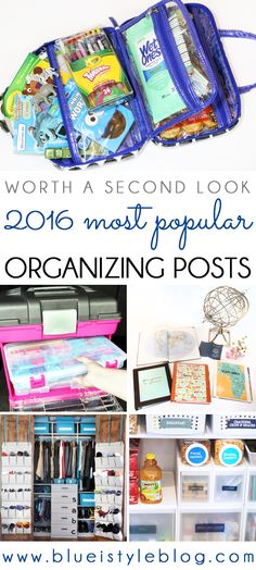 The five most popular organizing posts of 2016! Get the whole family organized with these great ideas!