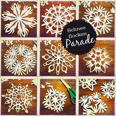Tutorial for beautiful paper snowflakes