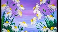 EASY Spring Flowers Acrylic Painting on Canvas for Beginners #lovespring...