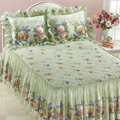 Sage Floral Delight Bedding