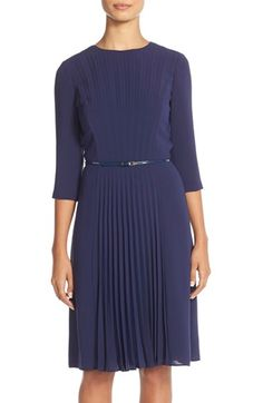 Adrianna Papell Pleated A-Line Dress (Regular & Petite) available at #Nordstrom