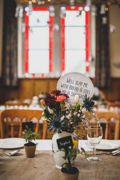 Magical Crafty Outdoorsy Village Hall Wedding Vase Flowers  http://www.foxleyphotography.com/