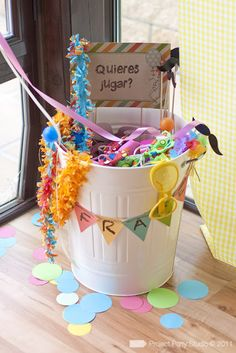 bucket full of picture props