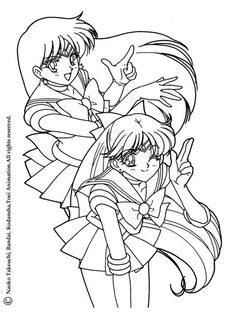 1000 images about coloring pages on pinterest sailor for Sailor venus coloring pages