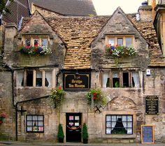 The Bridge Tea Rooms, Bradford-on-Avon, Wiltshire, England. ANY tea room in England. Bradford On Avon, Bradford England, English Village, English Cottages, English House, Photos Voyages, England And Scotland, Somerset England, English Countryside