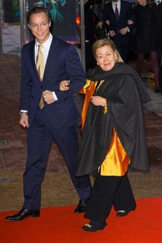 Princess Christina of the Netherlands with her nephew  Prince Jaime Bernardo of Bourbon-Parma, Count of Bardi attends the 75th birthday celebration of Queen Beatrix