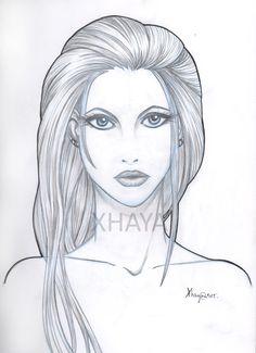 Ilustración realizada a lápiz de una mujer con un toque más realista para probar otros estilos.