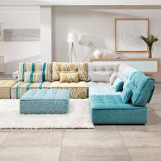 Le canapé modulaire bas - Salon - Inspirations - Décoration et rénovation - Pratico Pratiques
