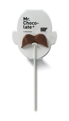 chocolate mustache  .:. packaging
