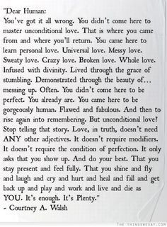 I could read this over and over and over again... All the days of my life.