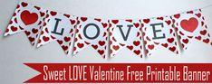 Sweet LOVE Valentine's Day Collection + Free Printable LOVE Banner by MariaPalito