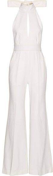 Roksanda - Ruscha Open-back Cady Halterneck Jumpsuit | #Chic Only #Glamour Always