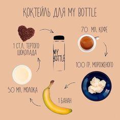 Рецепты напитков для My Bottle Smoothie Drinks, Smoothie Recipes, Smoothies, Good Food, Yummy Food, Tasty, Healthy Drinks, Healthy Recipes, Keto