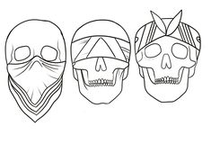 Skull Tattoo Design, Tattoo Designs, Tattoo Drawings, Art Drawings, Drawings To Trace, Brainstorm, Tattoo Caveira, Tiki Tattoo, Tattoo Lettering Styles