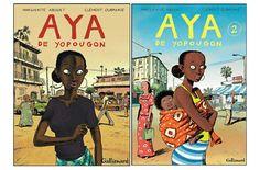 Bd mettant en vedette Aya, son entourage et la Cote d'Ivoire