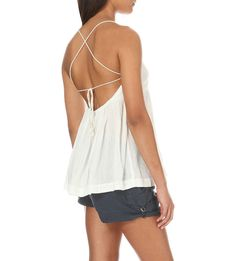 NWT $78 Free people 'Blackbird Embroidered Babydoll Top' in Ivory size Medium #FreePeople #TankCami