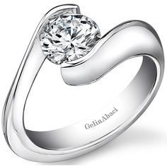 Bypass Tension Engagement Ring by http://www.engagediamonds.com/