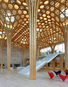 22 impactantes estructuras de madera  | Haesley Nine Bridges Golf Clubhouse (Corea del Sur)