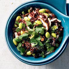 Salade de riz noir et d'edamames