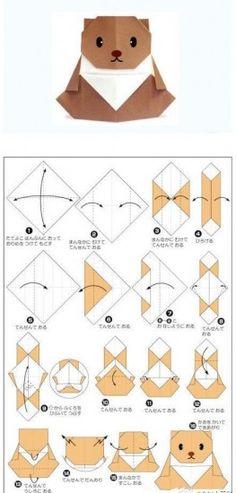 Hoy te compartimos este hermoso diseño, solo debes seguir las instrucciones para crear paso a paso este osito hecho en origami.