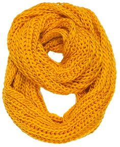 "DRY77 Forever Scarf Thick Knitted Solid Infinity Loop Scarf (16"" x 48"", Selective Yellow - 16"" x 48"") Dry77 http://www.amazon.com/dp/B00OVAUASM/ref=cm_sw_r_pi_dp_lb95vb0VCD3P8"